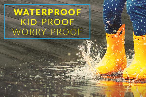 Finally   Waterproof, Kid Proof, And Worry Proof Luxury Vinyl Flooring.