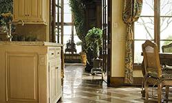Kitchen and dining room porcelain tile